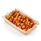 Картофель с беконом и соусом барбекю
